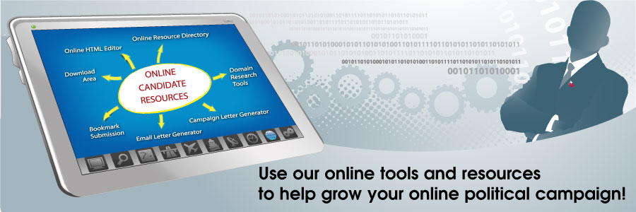 Use our online tools and resources to help grow your online political campaign!