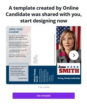 Free political print template link